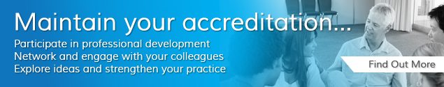 Maintain your accreditation...